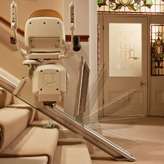 hinged rail for stairlifts