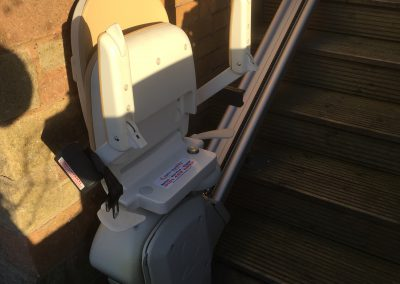 Acorn Brooks Outdoor Stairlift | Slimline Straight Stairlifts Gallery