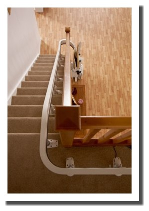 Acorn-Curved-180-Single-Rail-Stairlift-Spiral-Chairlift Rail
