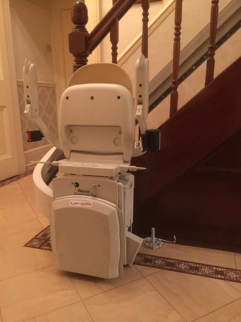 Acorn Curved Stairlift For Curved Staircases Folded