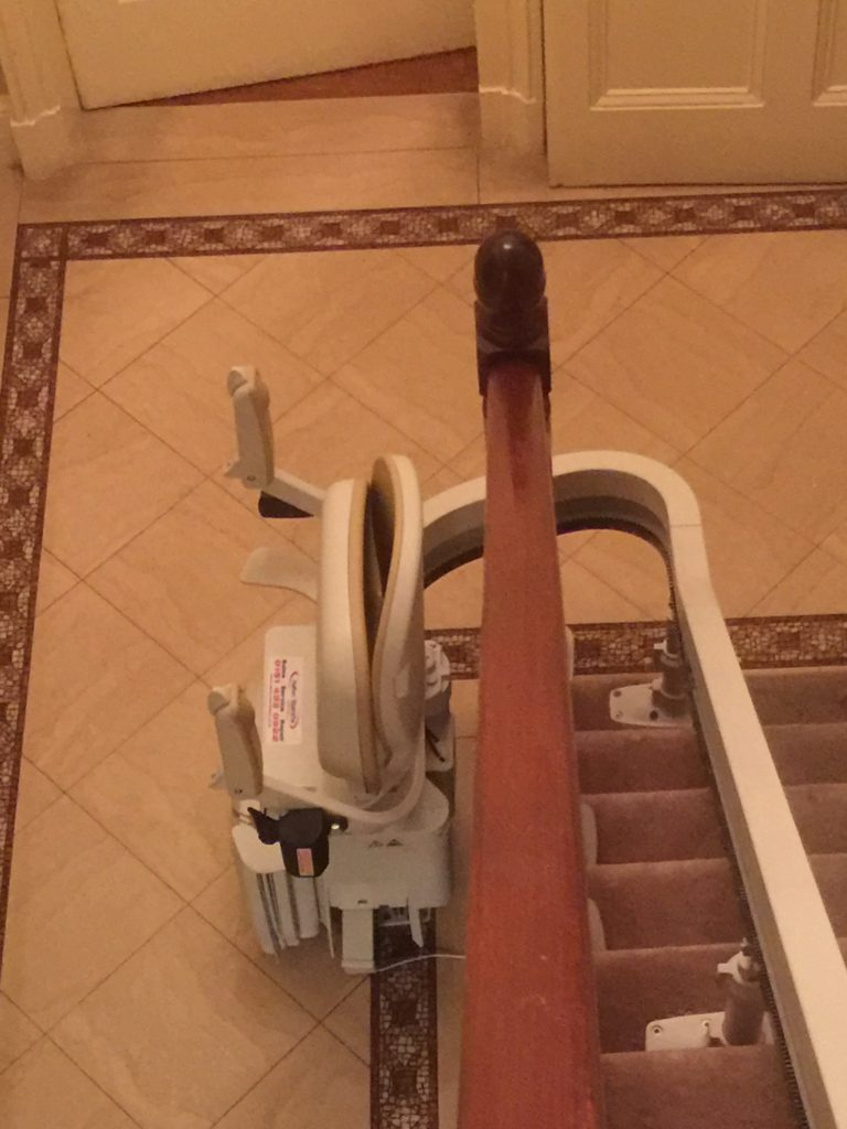 Acorn-Curved-Stairlift Folded