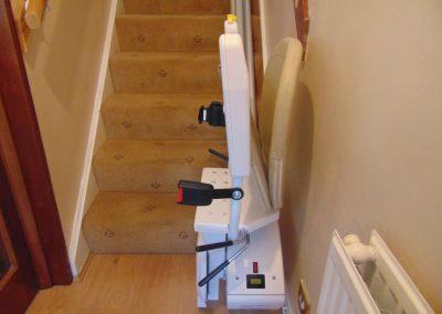 Bespoke Synergy Straight Stairlift Folded