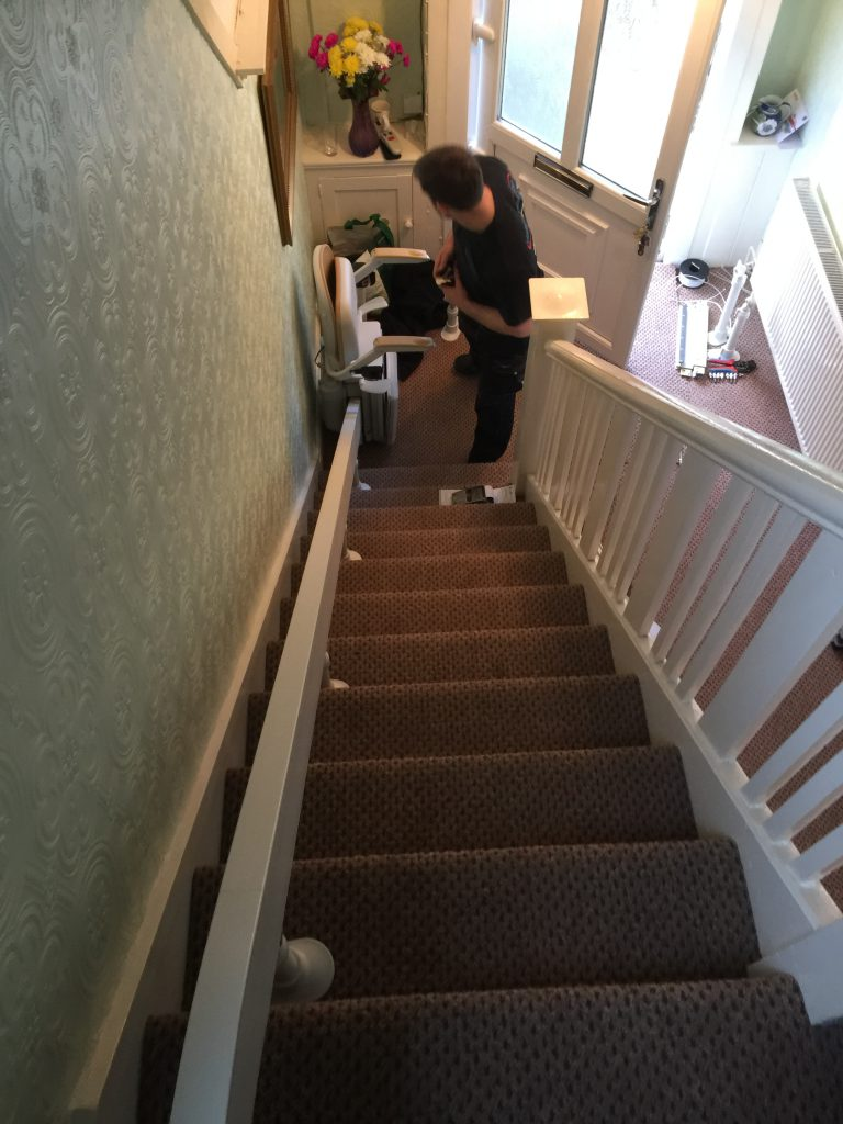 Brooks-180-T565-Curved-Stairlift Installation