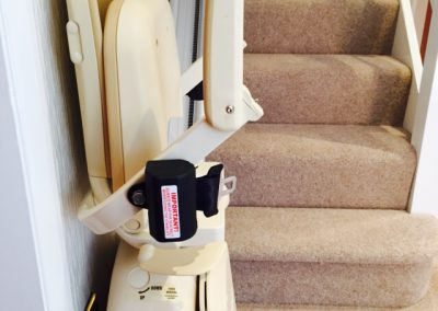 Compact Slimline Stairlifts Folded