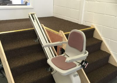 Halton Budget Straight Stairlift in the Halton Stairlifts Showroom