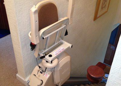 Halton Budget Straight Stairlift Folded