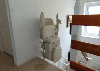 Halton Curved Signature Stairlift Folded Chair lIft