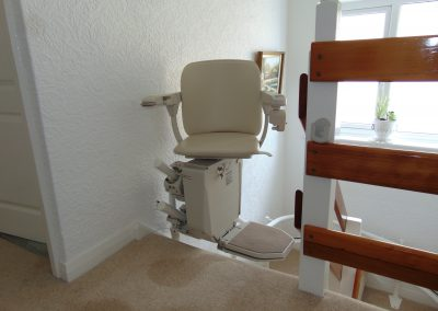 Halton Curved Signature Stairlift Folded Chair lIft Swiveled