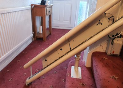 Halton Stairlifts Curved Signature Stairlift Powered Hinge Track