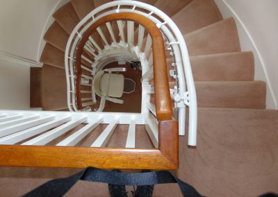 Halton Spiral Curved Stairlift | Halton Stairlifts