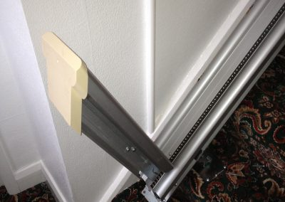 Hinged Straight Stairlift Track Raised