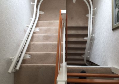 Stannah Sienna Curved Stairlift Chairlift Double track rail
