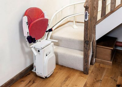 Platinum-Curved-Stair-Lift-Chairlift-Spiral-Stairlift-Halton-Stair-Lifts