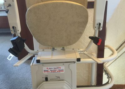 Platinum Ultimate Curved Stairlift Folded