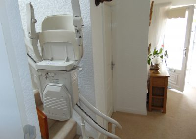 Stannah Sienna Curved Stairlift Chairlift Folded