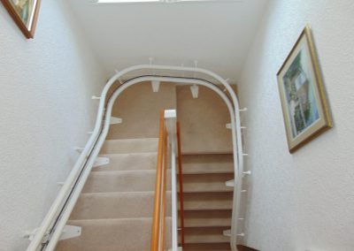 Stannah Sienna Curved Stairlift Chairlift Double Rail Track