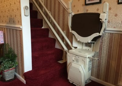 Stannah Solus Curved Stairlift Folded