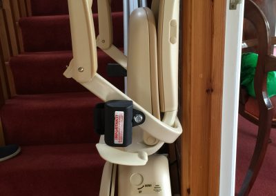 Folded Straight Stairlift after Halton Stairlifts Installation