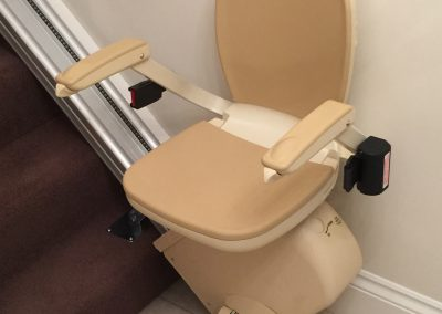 Straight Stairlift after Halton Stairlifts Installation