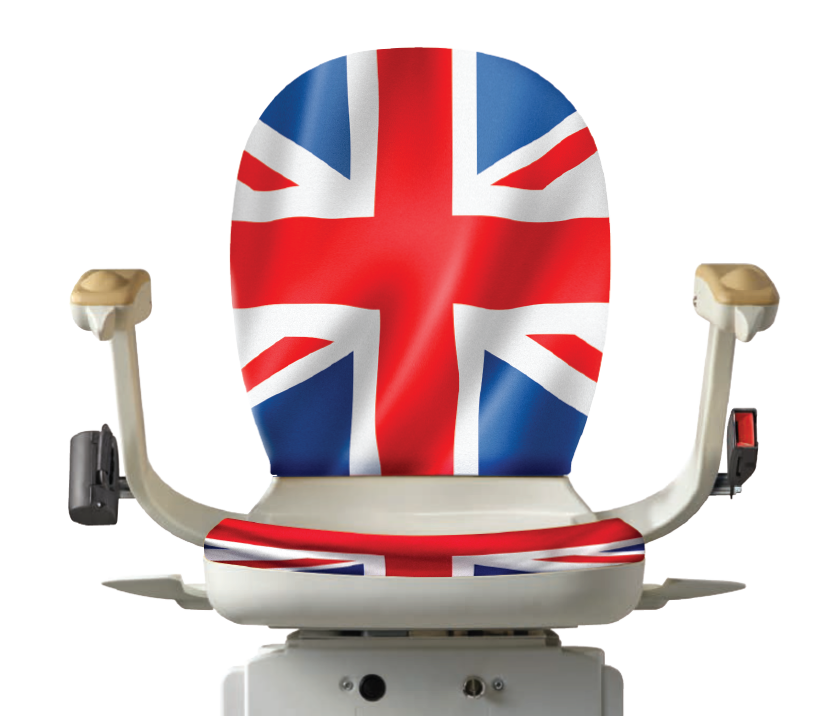 Union Jack Stairlift Graphic | Halton Stairlifts