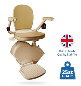 New Brooks Heavy Duty Stairlift (Upto 25st) | Halton Stairlifts