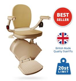 New Brooks Slimline 130 T700 Stairlift (upgraded seat) | Brooks Straight Stairlifts