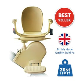 Reconditioned Brooks Slimline Stairlift | Straight Stairlifts | Halton Stairlifts