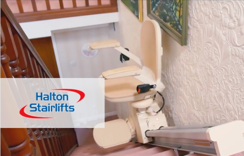 Straight stairlift installed by Halton Stairlifts