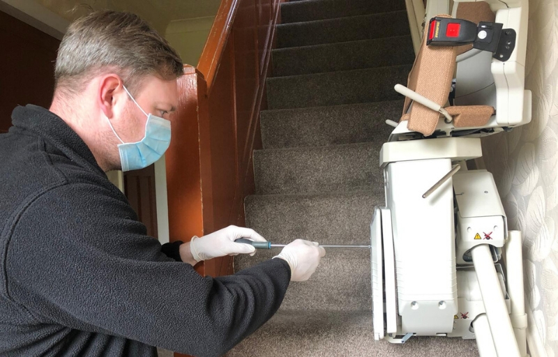 STAIRLIFT INSTALLATION DURING CORONAVIRUS LOCKDOWN