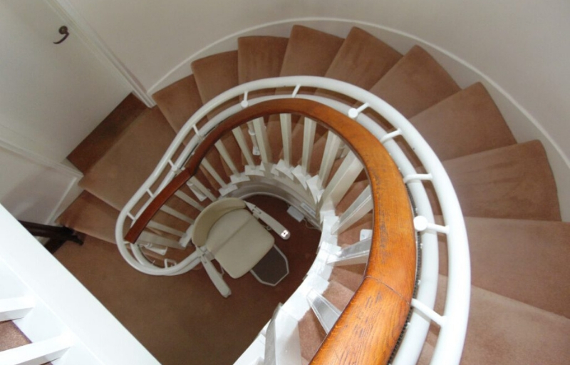 STAIRLIFTS FOR SPIRAL STAIRCASES _ HALTON STAIRLIFTS
