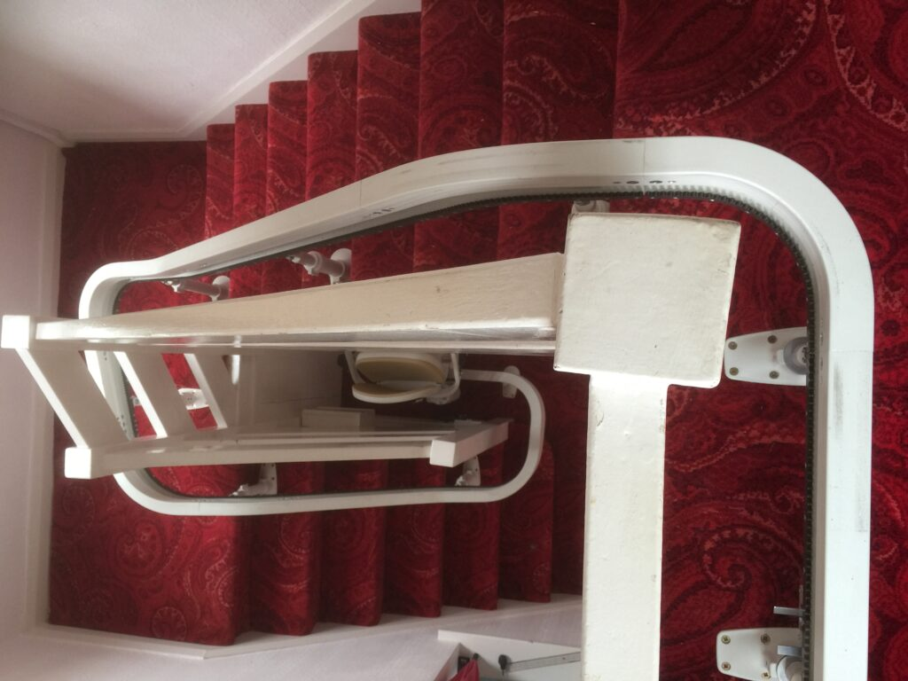 Brooks Acorn Curved Spiral Stairlift Single Rail Chairlifts Track