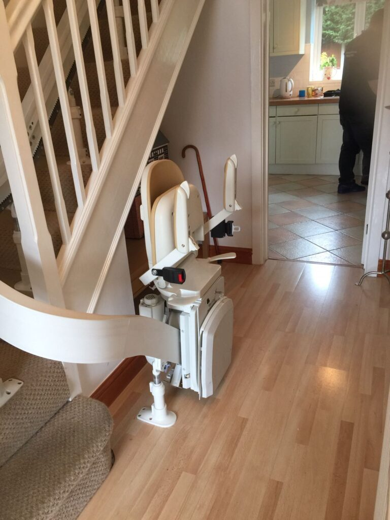Brooks Acorn Curved Stairlift Single Rail Chairlifts (2)