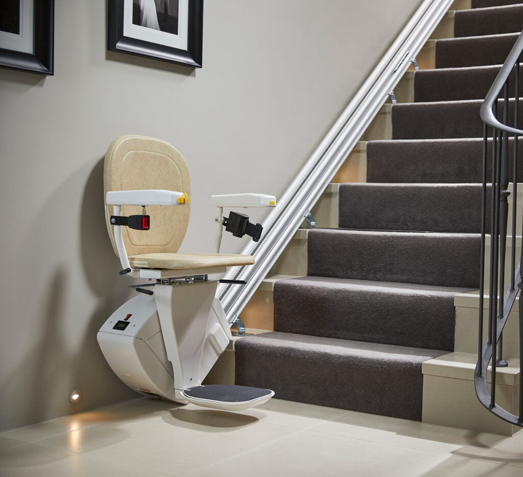 hinged rail stairlift
