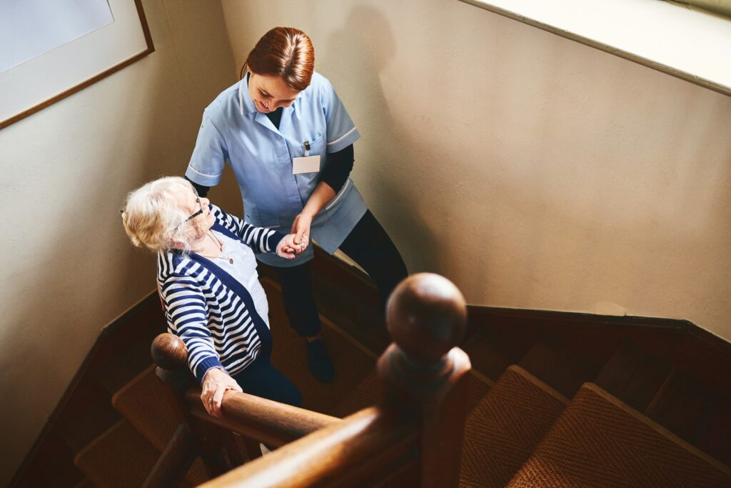 how to prevent falls on the stairs