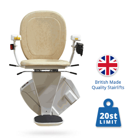 New Brooks Slimline 130 T700 Stairlift (upgraded seat)   Halton Stairlifts