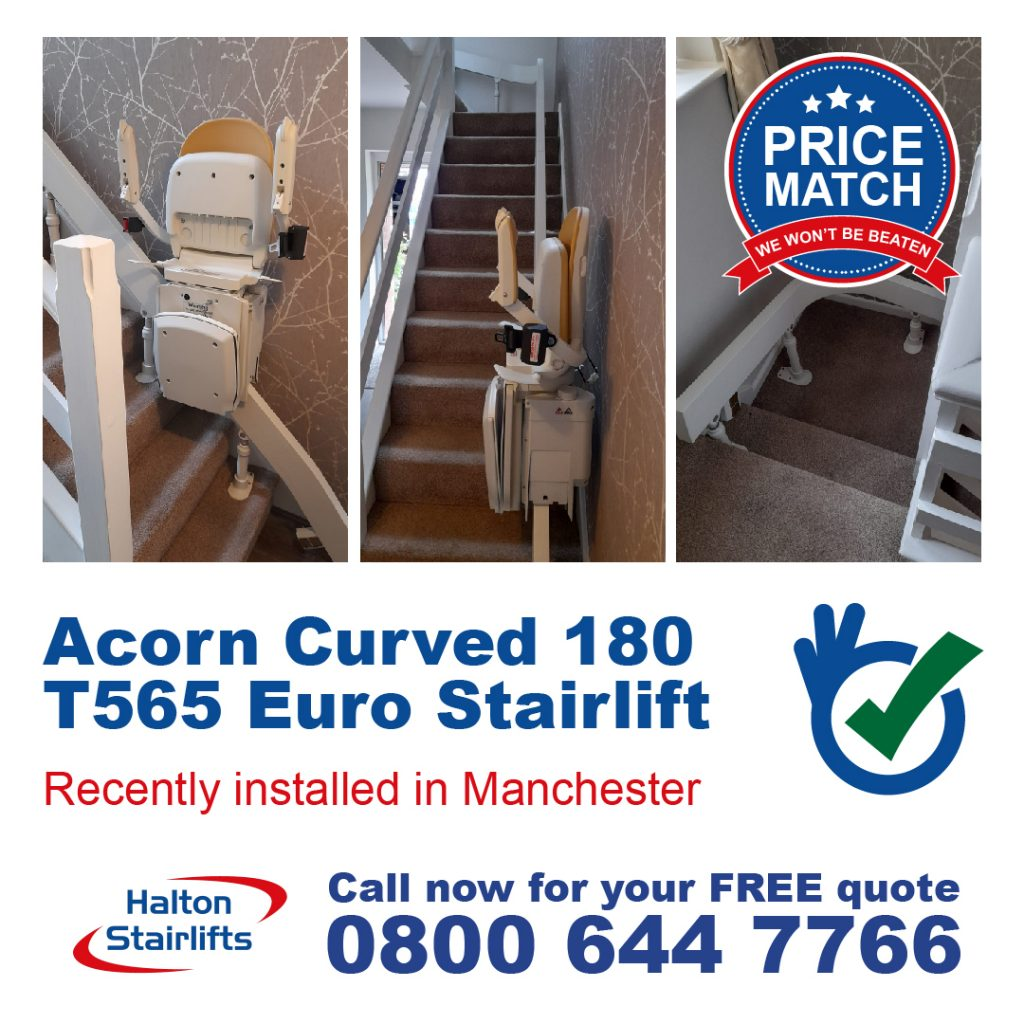Acorn Curved 180 T565 Euro Stairlift Manchester
