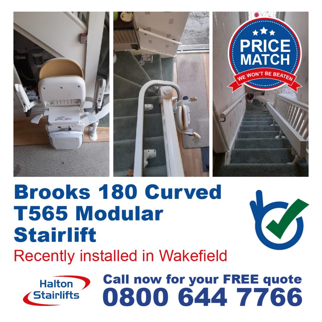 Brooks 180 Curved T565 Modular Stair Lift Full Installed In Wakefield Yorkshire