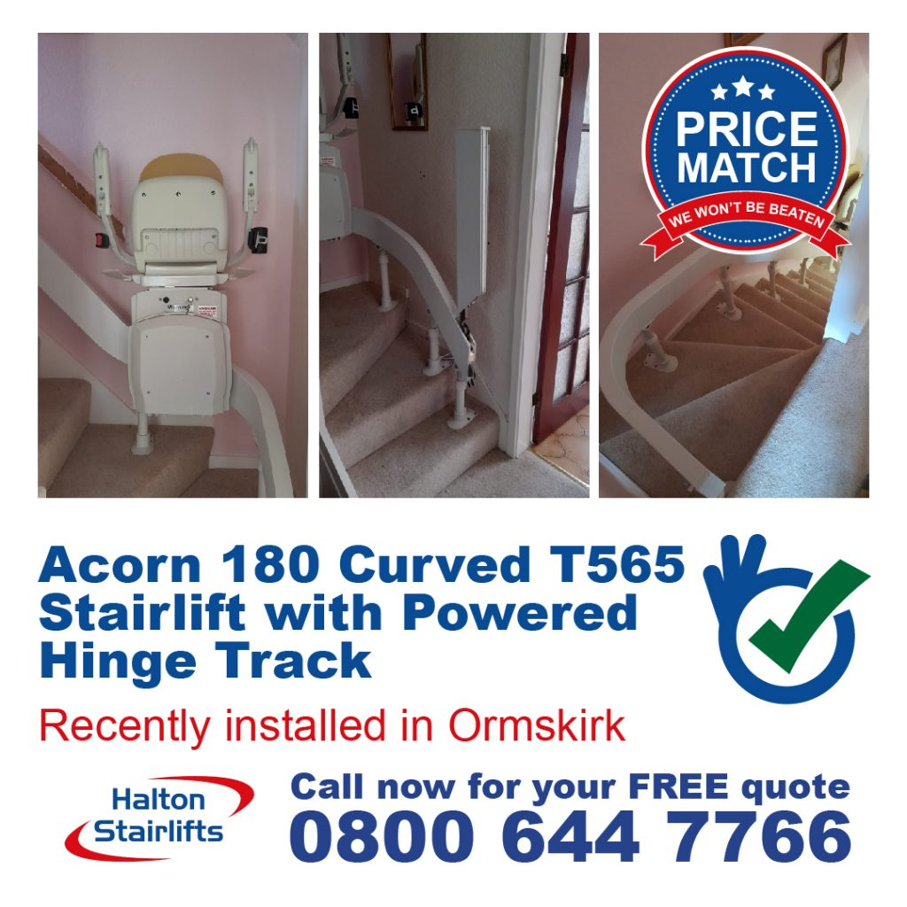 HS Acorn 180 Curved T565 with Powered Hinge Track Orkskirk