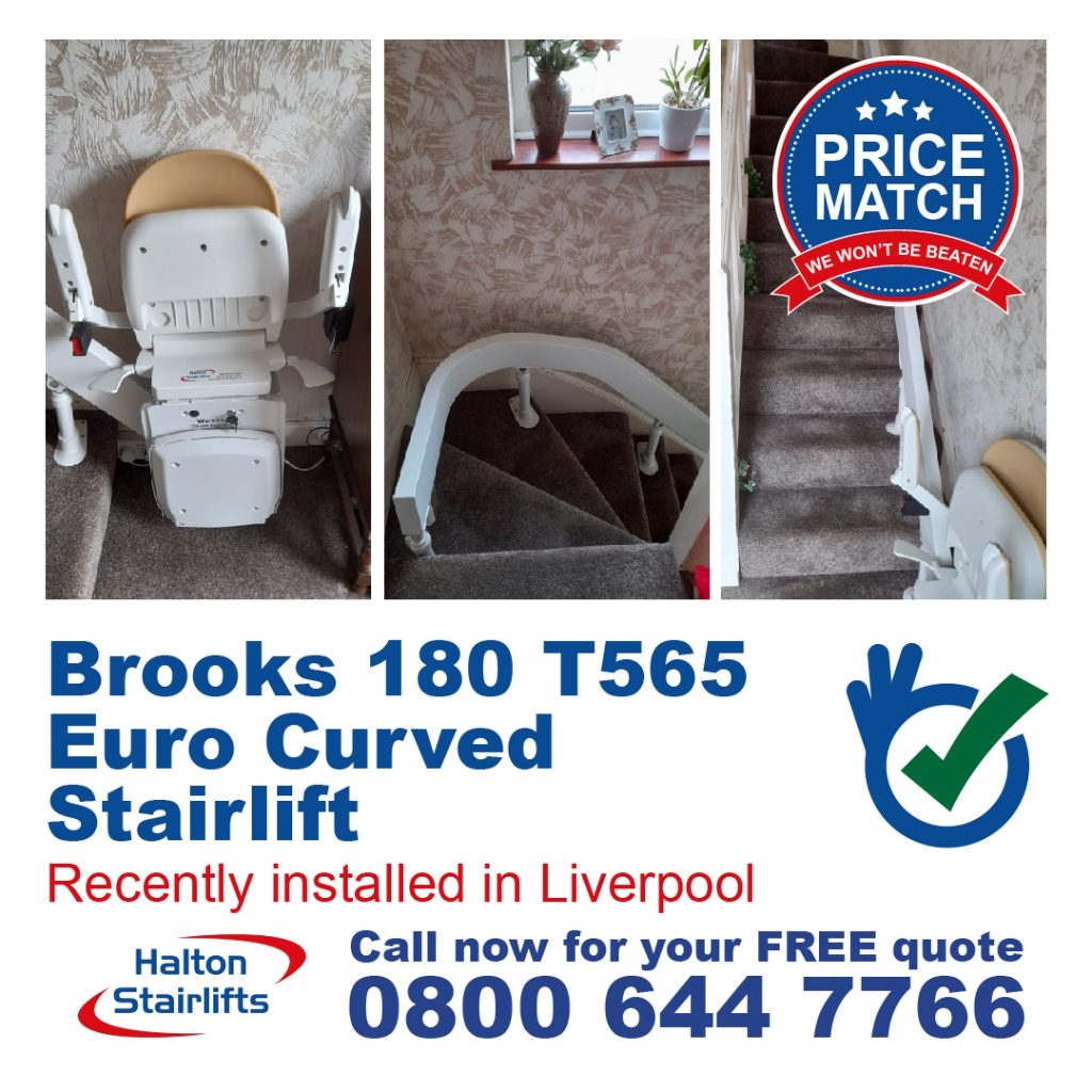 Brooks 180 T565 Euro Curved Stairlift Liverpool