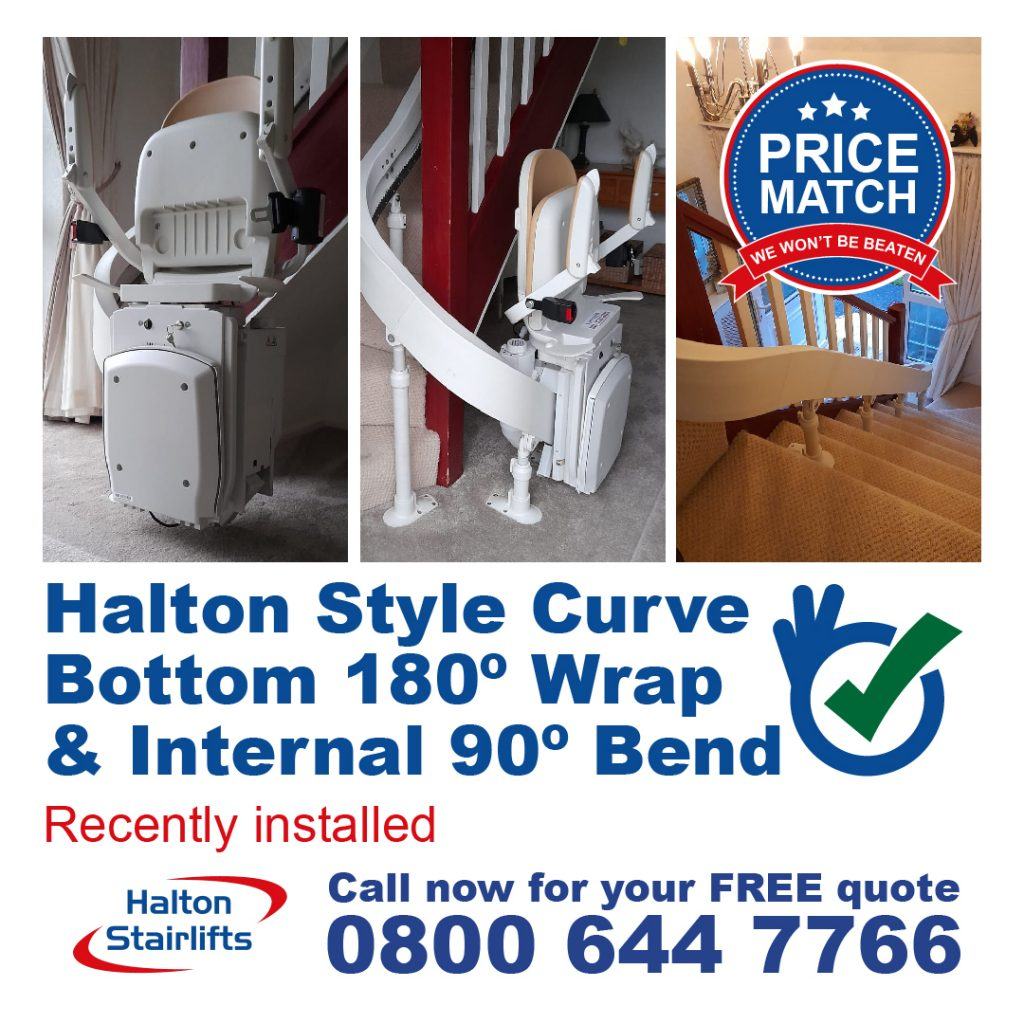 HS Curved Style Curve Bottom 180 Wrap & Internal 90 Bend