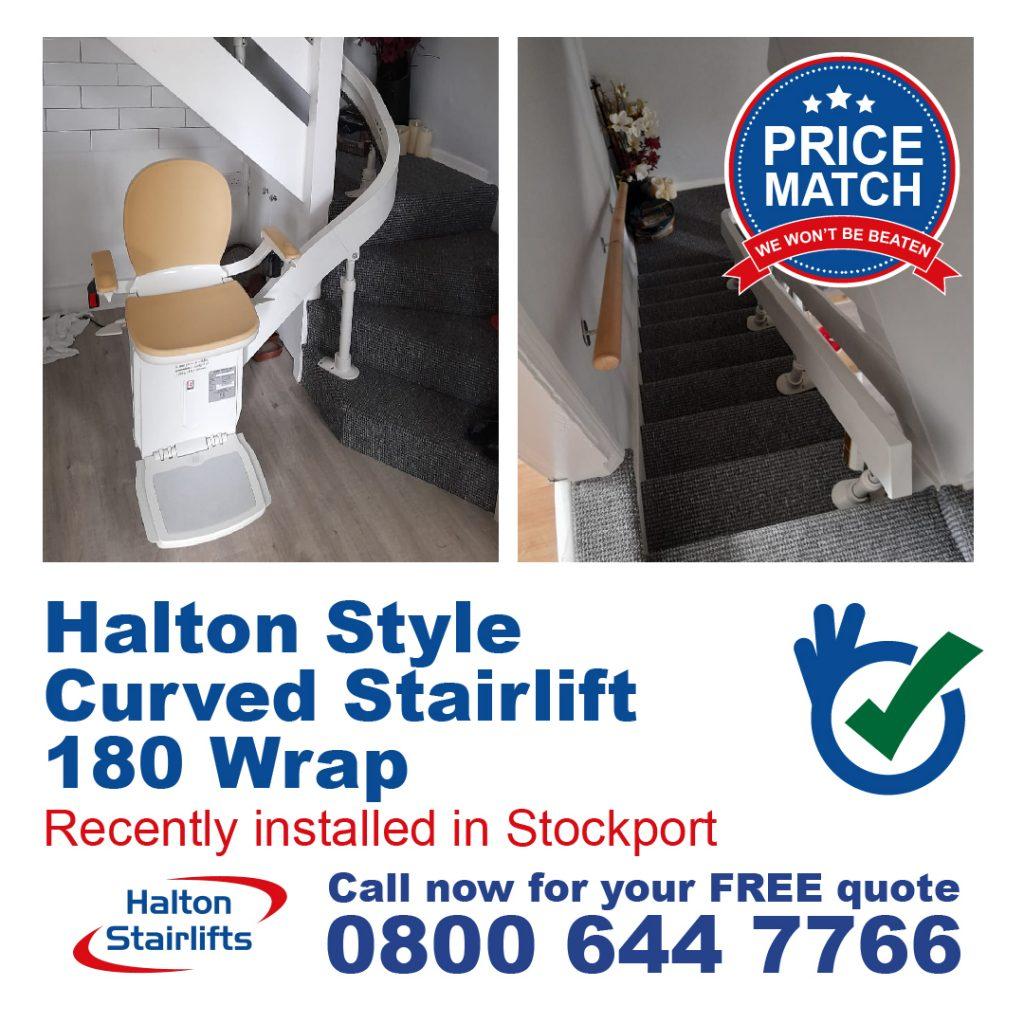Halton Styke Curved Stairlift Bottom 180 Wrap Stockport