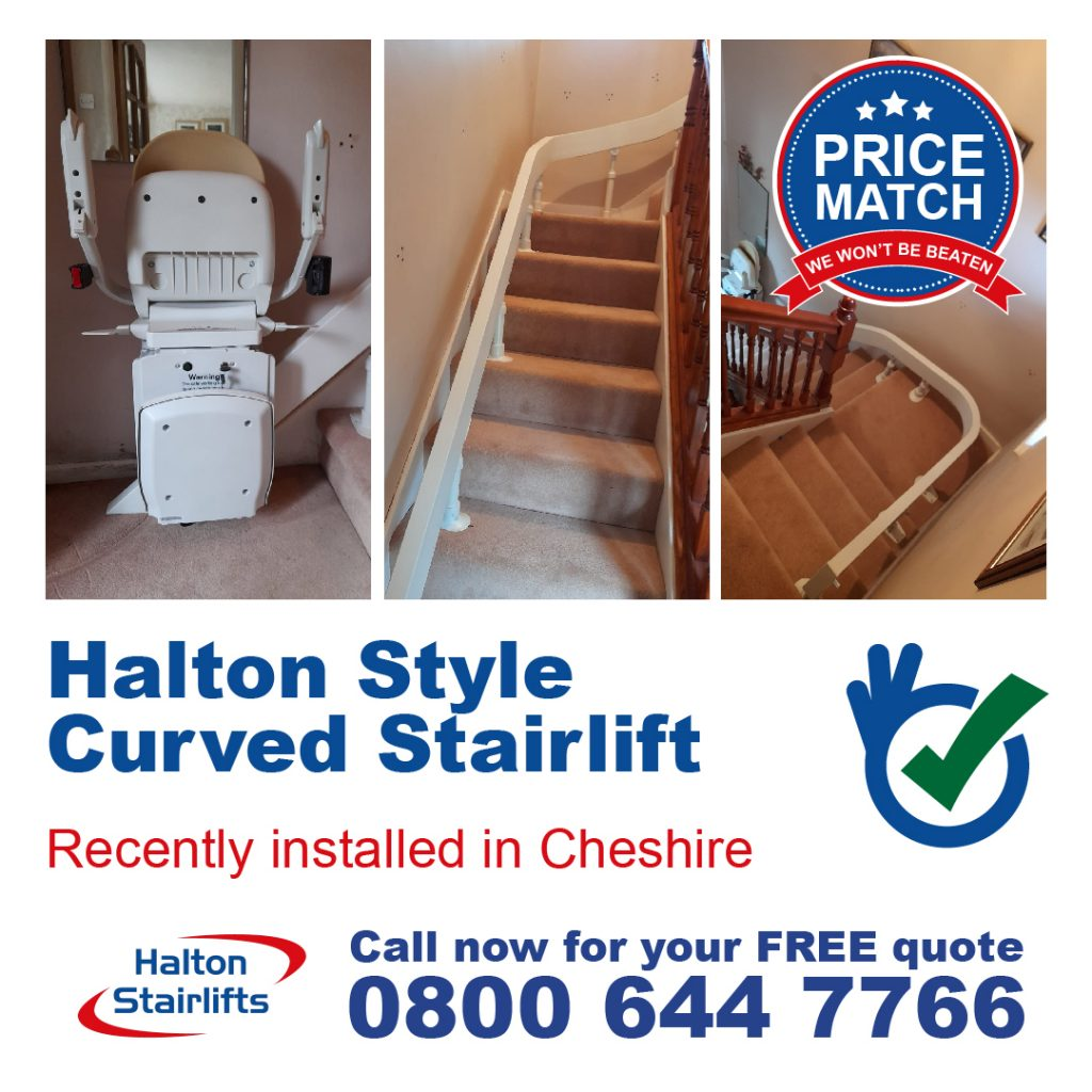 HS Style Curved Stairlift Cheshire