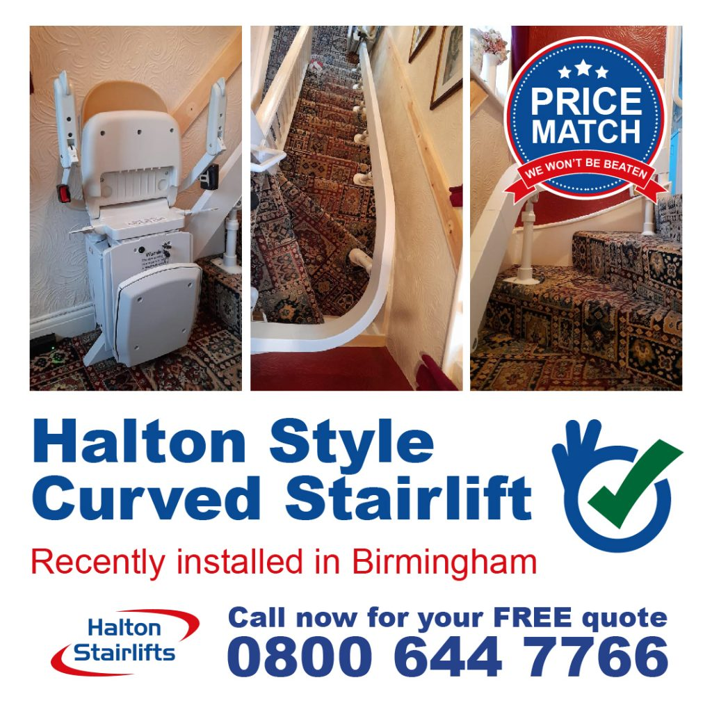 HS Style Curved Stairlift Birmingham