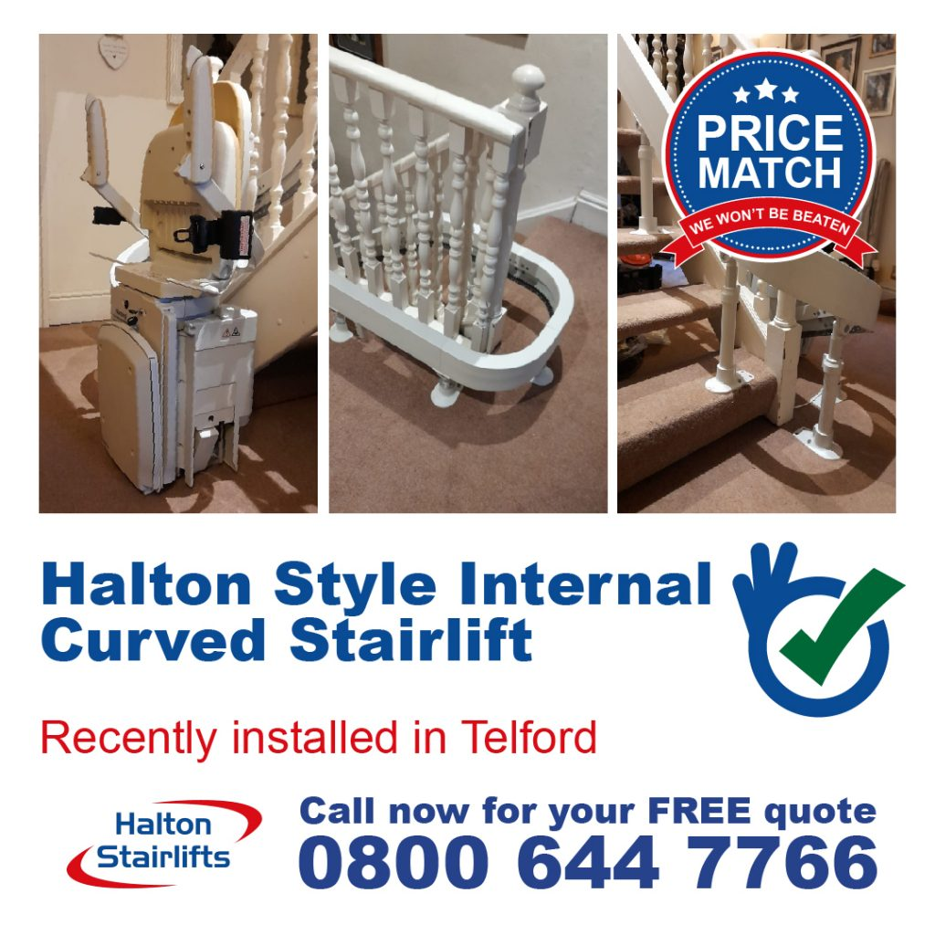 HS Style Internal Curved Stairlift Telford