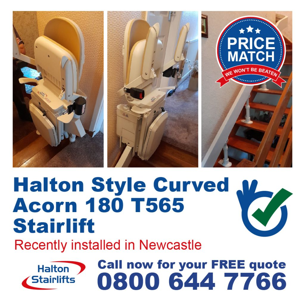 Halton Style Curved Acorn 180 T565 Fully Installed In Newcastle