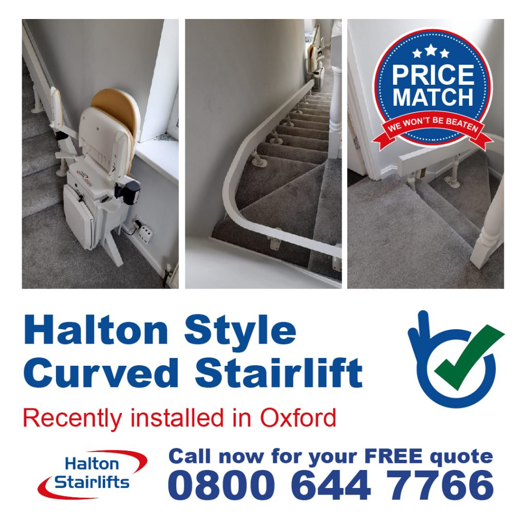 Halton Style Curved Stairlift Fully Installed Stair Lifts In Oxford